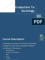 Lecture 1 - Introduction to Sociology