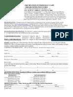 2008 Summer Day Camp Registration Form