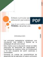 +ënfasis curricular para primer ciclo (clase 6)