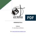 Apostila - Curso de Hermeneutica i - Parte i