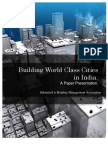 Building World CLass Cities in India