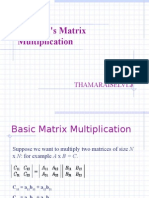Strassen's Matrix Multiplication[1]