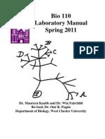 Bio 110 Lab Manual Spring 2011