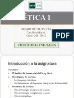 ETICA I. Cues Ti Ones Iniciales