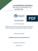 Pilar Lindo-Tercer corte-Pedagogía