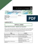 1220PHYS Lenses Students Lab Manual 2010(b)