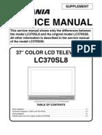 Sylvania LC370SL8 Service Manual