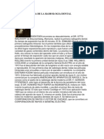 RESEÑA HISTORIA DE LA RADIOLOGIA DENTAL