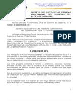Jornadas alarconianas decreto