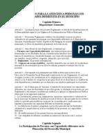 REGLAMENTO PARA LA ATENCIÓN A PERSONAS CON CAPACIDADES DIFERENTES