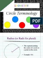 Circle Terminology