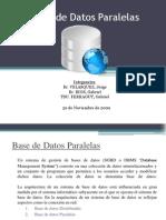 Bases de Datos Paralelas