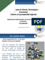 AVANCES Y RETOS SGR-CTI JULIO 31 2012presnetacion ion de Proyectos Vipri