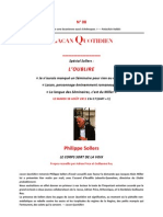 Philippe Sollers, Entretien p8, 2011!