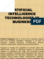 Artificial Intelligence Technologies in Business