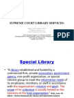 Supreme Court Library services