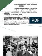 El Primer Gobierno Peronista (1946-1951)