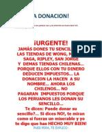 PARECIA DONACION