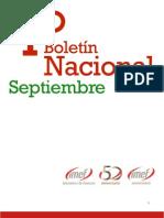 Boletín Nacional - Septiembre 2011