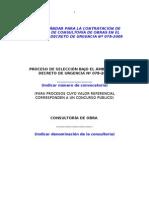 Bases Est and Ares Para La Contratacion de Servicios de Consultoria de Obras
