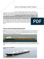 Advancement in Technology in Water Transport