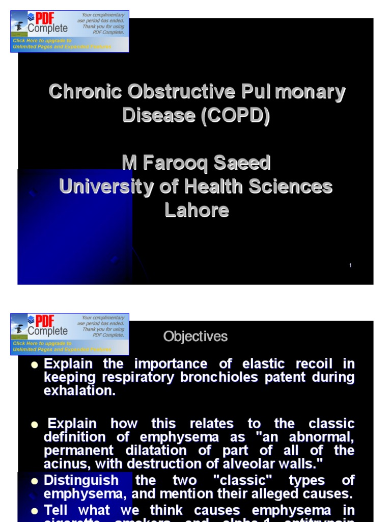 2) copd | chronic obstructive pulmonary disease | lung