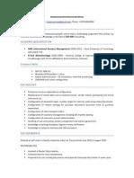 Prasanna SAP MM Resume