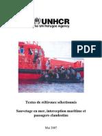 Textes de référence sélectionnés- Sauvetage en mer interception maritime