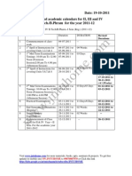 JNTU Hyderabad Revised Academic Calendars 2011