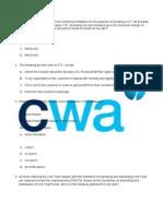 CUTE Exam Paper Set 1