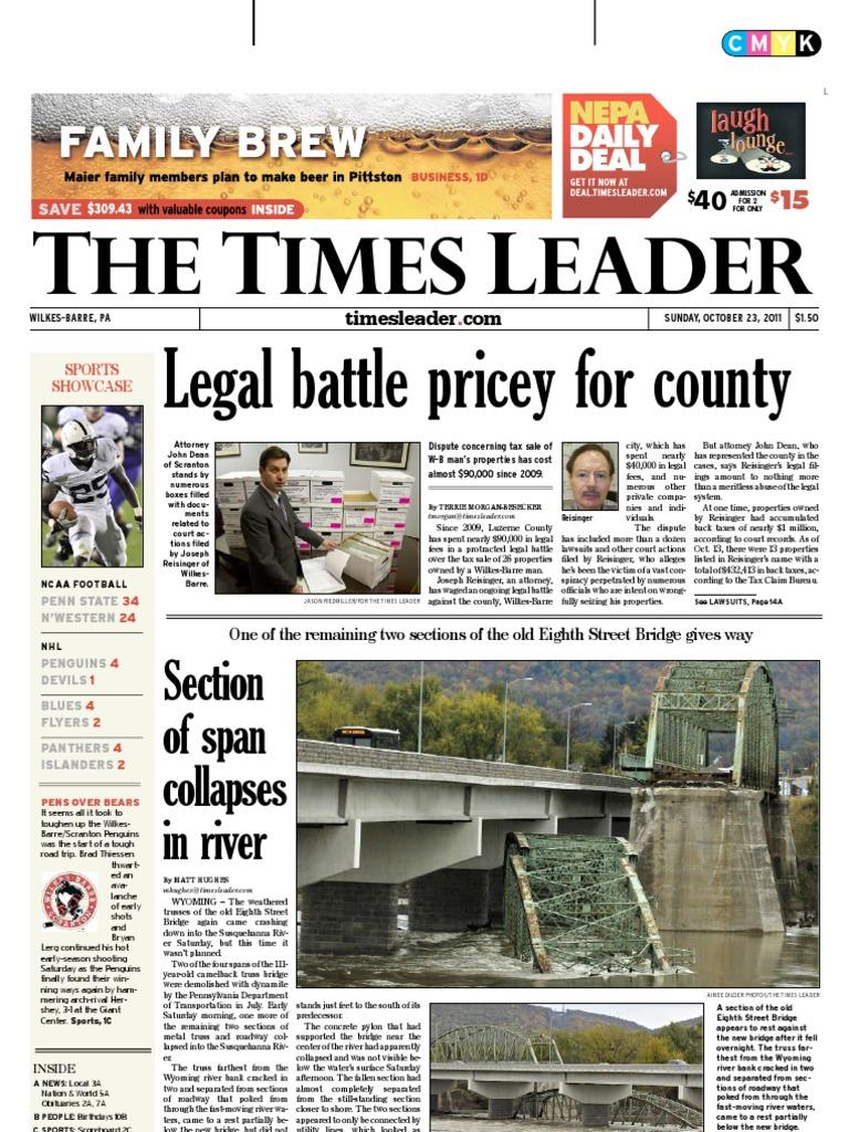 Times Leader 10 23 2011 | Muammar Gaddafi | Ali Abdullah Saleh