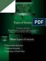 Types of Society