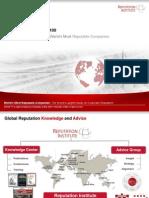 2011 Global RepTrak 100 TOPLINE