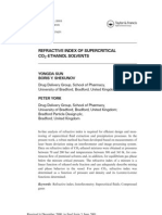 Refractive Index of Sup Re Critical CO2-EtOH Solvents