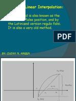 Method of Linear Interpolation