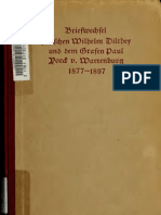 Briefwechsel Zwischen Dilthey Und Yorck