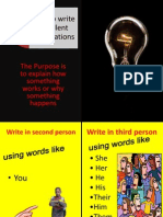How to Write Excellent Explanations