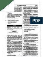 DS-004-2010-SA 1ra Modificatoria TUPA MINSA