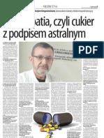 Homeopatia Czyli Cukier z Podpisem Astralnym - Medycyna