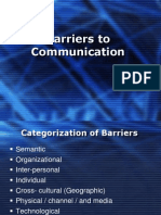 Barriers to Commn