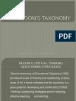 Unit 4 Bloom Taxonomy