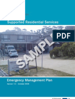 Emergency Management Plan Sample