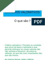 Filosofia-Criterios Valorativos