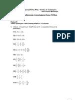 Compilação sobre números para 7 e 8 ano