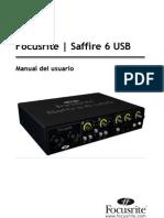Saffire 6 USB User Guide Es