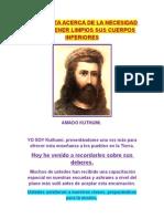 ENSEÑANZA ACERCA DE LA NECESIDAD DE MANTENER LIMPIOS SUS CUERPOS INFERIORES