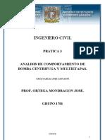 Análisis de bomba centrifuga y multietapas.