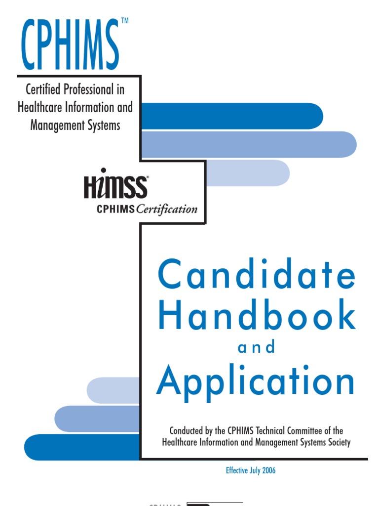 37102790 Cphims Candidate Handbook Identity Document