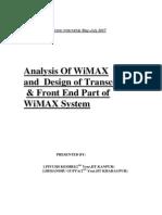 Wimax Report(Summers07)