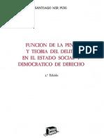 Funcion de La Pena y Teoria Del Delito - Mir Puig